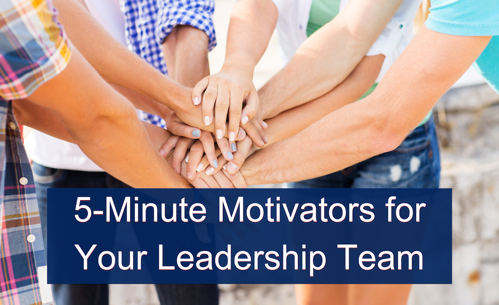 5 Minute Student Leadership Motivators